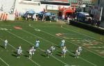 Cheerleaders perform at halftime