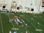 The Citadel offense - second qtr.