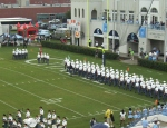 Corps marches into stadium - 1